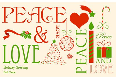 Peace&love3 Greeting Card (55x85)